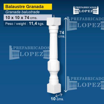 Balaustre granada archivos prefabricados l pez for Balaustres granada