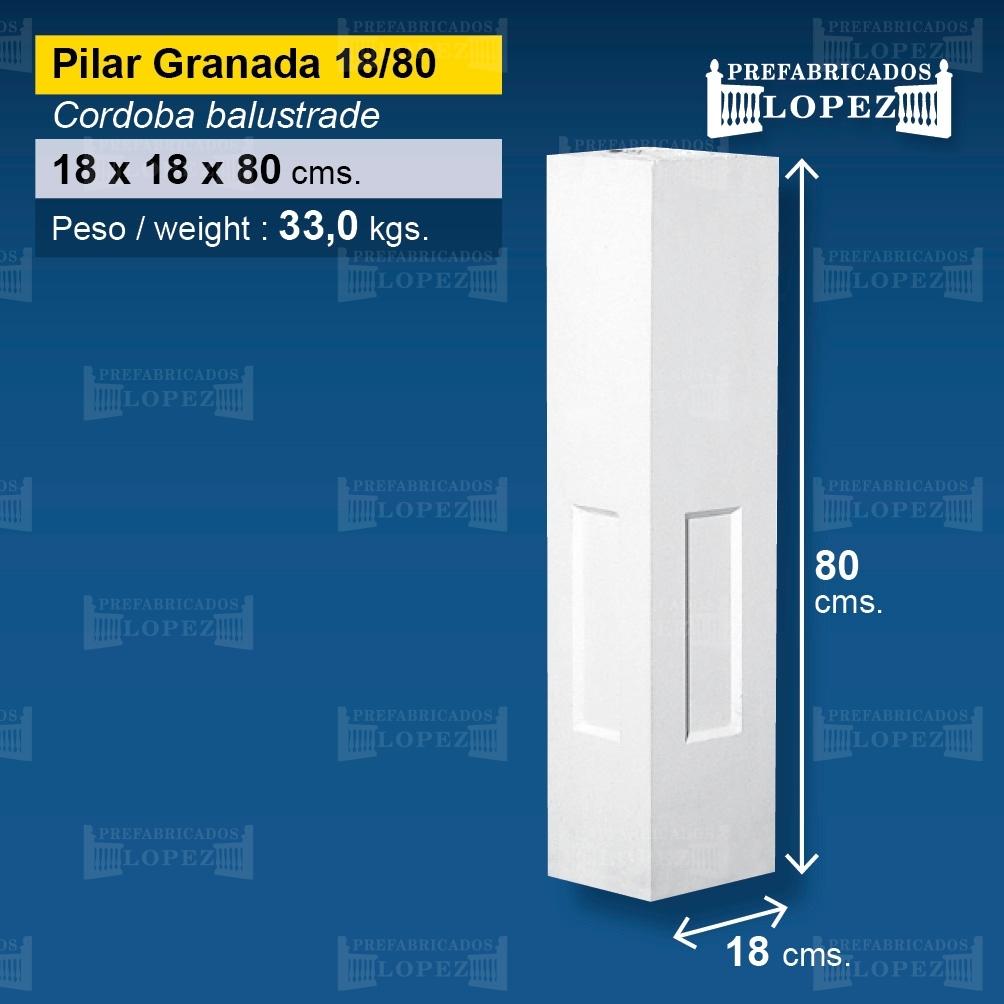 Pilar granada 18 80 pilares de balaustres pilar granada for Balaustres granada