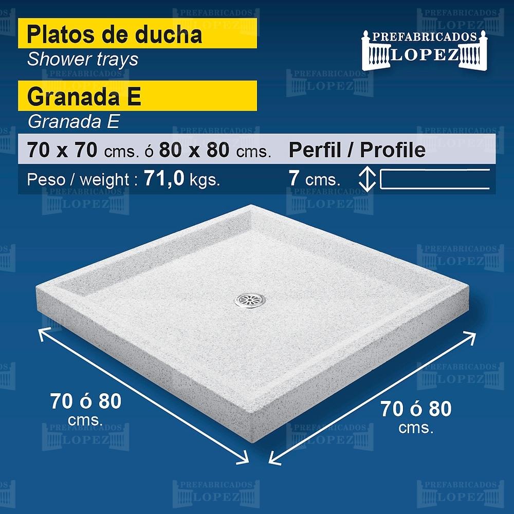 Plato de ducha granada e prefabricados l pez for Plato ducha piscina