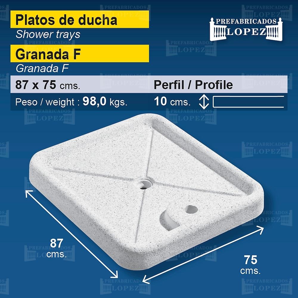 Plato de ducha granada f prefabricados l pez for Platos de ducha en granada